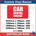 CAR RENTAL ( ARROW ) - CUSTOM VINYL BANNER SIGN