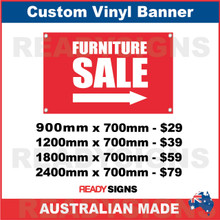 FURNITURE SALE ( ARROW ) - CUSTOM VINYL BANNER SIGN