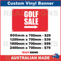 GOLF SALE ( ARROW ) - CUSTOM VINYL BANNER SIGN