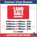 LAND SALE ( ARROW )  - CUSTOM VINYL BANNER SIGN