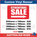 STOCKTAKE SALE ( ARROW ) - CUSTOM VINYL BANNER SIGN