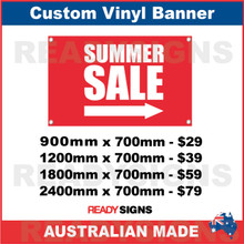 SUMMER SALE ( ARROW ) - CUSTOM VINYL BANNER SIGN