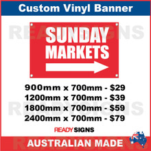 SUNDAY MARKETS ( ARROW ) - CUSTOM VINYL BANNER SIGN