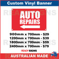 ( ARROW )  AUTO REPAIRS - CUSTOM VINYL BANNER SIGN