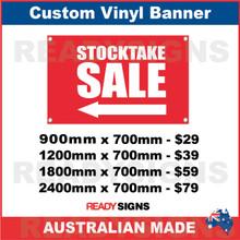 ( ARROW )  STOCKTAKE SALE - CUSTOM VINYL BANNER SIGN