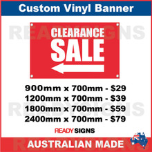 ( ARROW )  CLEARANCE SALE - CUSTOM VINYL BANNER SIGN