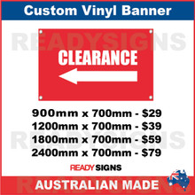 ( ARROW )  CLEARANCE - CUSTOM VINYL BANNER SIGN