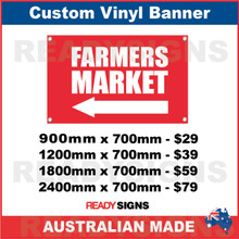 ( ARROW )  FARMERS MARKET  - CUSTOM VINYL BANNER SIGN
