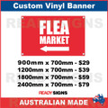 ( ARROW )  FLEA MARKET - CUSTOM VINYL BANNER SIGN