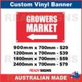 ( ARROW )  GROWERS MARKET - CUSTOM VINYL BANNER SIGN
