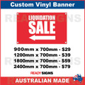 ( ARROW )  LIQUIDATION SALE - CUSTOM VINYL BANNER SIGN