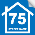 Bin Sticker Numbers (Set of 4) - Style1/Blue-White
