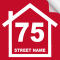 Bin Sticker Numbers (Set of 4) - Style1/Red-White