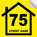 Bin Sticker Numbers (Set of 4) - Style1/Yellow-Black