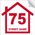 Bin Sticker Numbers (Set of 4) - Style1/White-Red