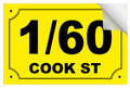 Bin Sticker Numbers (Set of 4) - Style 6/Yellow-Black