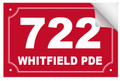 Bin Sticker Numbers (Set of 4) - Style 6/Red-White