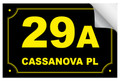 Bin Sticker Numbers (Set of 4) - Style 6/Black-Yellow