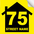 Bin Sticker Numbers (Set of 4) - Style 2/Yellow-Black