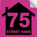 Bin Sticker Numbers (Set of 4) - Style 2/Pink-Black