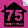 Bin Sticker Numbers (Set of 4) - Style 2/Pink-Black