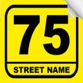 Bin Sticker Numbers (Set of 4) - Style 3/Yellow-Black