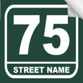 Bin Sticker Numbers (Set of 4) - Style 3/Green-White