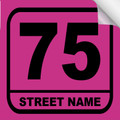 Bin Sticker Numbers (Set of 4) - Style 3/Pink-Black