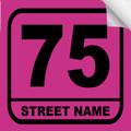 Bin Sticker Numbers (Set of 4) - Style 3/Pink-Black
