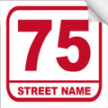 Bin Sticker Numbers (Set of 4) - Style 3/White-Red