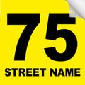 Bin Sticker Numbers (Set of 4) - Style 4/Yellow-Black