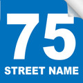 Bin Sticker Numbers (Set of 4) - Style 4/Blue-White