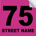 Bin Sticker Numbers (Set of 4) - Style 4/Pink-Black