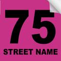Bin Sticker Numbers (Set of 4) - Style 4/Pink-Black