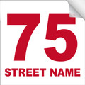 Bin Sticker Numbers (Set of 4) - Style 4/White-Red