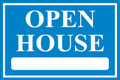 Open House Sign Classic Style- Light Blue