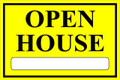 Open House Sign Classic Style- Yellow