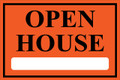 Open House Sign Classic Style- Orange