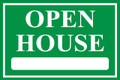 Open House Sign Classic Style- Green
