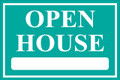 Open House Sign Classic Style- Teal