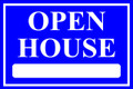 Open House Sign Classic Style- Blue