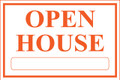 Open House Sign Classic Style- Wt/Og