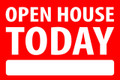 Open House Today - Red