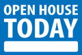 Open House Today - Blue