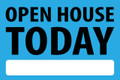 Open House Today - Light Blue