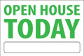 Open House Today - White/Green