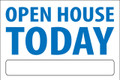 Open House Today - White/Blue