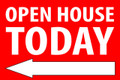 Open House Today - Left Arrow - Red