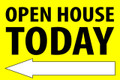 Open House Today - Left Arrow - Yellow