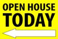 Open House Today - Left Arrow - Yellow